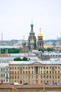 Panorama of saint petersburg bird s eye view russia june with our saviour on spilled blood cathedral at the center Stock Images