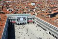 Panorama of the san marco square and whole city venice italy Stock Images