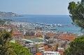 Panorama of San Remo, Italy, boasting views of the Marina Royalty Free Stock Photo