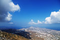 Panorama the of santorini in greece Stock Photos