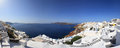 Panorama of santorini island greece Stock Photo