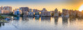 Panorama of Sarasota skyline at dawn, Florida Royalty Free Stock Photo