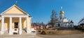 Panorama Savvino Storozhevsky monastery Royalty Free Stock Photo