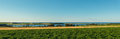 Panorama of scenic view of point east coastal drive prince edward island canada Royalty Free Stock Photo