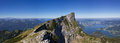 Panorama of the Schafberg mountain Stock Photos