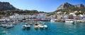 Panorama of seaport Marina Grande, Capri island - Italy Royalty Free Stock Photo