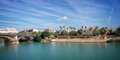 Panorama of seville and the guadalquivir river Stock Photo