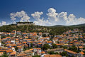 Panorama of Sibenik and St.John fortress Stock Images