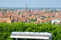 Panorama sign bologna tour aerial view sightsee emilia romagna Royalty Free Stock Image