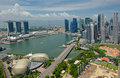 Panorama of Singapore Royalty Free Stock Photography