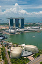 Panorama of Singapore Royalty Free Stock Photos