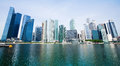 Panorama of Singapore City Stock Images
