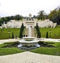 2_Panorama of the site of The Bahai gardens . Royalty Free Stock Photo
