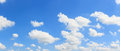 Panorama sky and cloud background. Royalty Free Stock Photo
