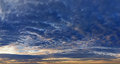 Panorama of the sky at sunset Stock Photo