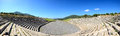 The panorama of stadium with mausoleum in ancient messene messinia peloponnes greece Royalty Free Stock Photography
