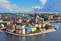 Panorama of stockholm old city sweden Stock Photography
