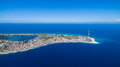 Panorama of the Strait of Messina Royalty Free Stock Photo
