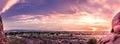 Panorama sunset late evening Phoenix,Arizona