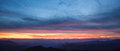 Panorama of sunset over Blue Ridge mountains Royalty Free Stock Photo