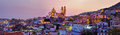 Panorama of Taxco city at sunset, Mexico Royalty Free Stock Photo