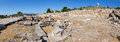 Panorama of telesterion ancient eleusis greece was one the great shrines antiquity its practices were based on two goddesses Royalty Free Stock Photo