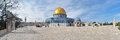 Panorama of Temple Mount with Dome of the Rock Mosque, Jerusalem Royalty Free Stock Photo