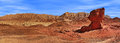 Panorama of timna park israel famous mushroom shape geological formation and arava mountains on background in national Royalty Free Stock Photography