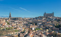 Panorama of Toledo, Spain Stock Photos