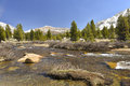 Panorama tolumne meadows yosemite national park california Royalty Free Stock Photography