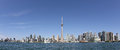Panorama of Toronto Harbour Stock Image