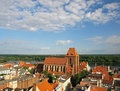 Panorama of Torun Stock Photography