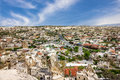 Panorama of town Goreme, Cappadocia, Turkey Royalty Free Stock Photo