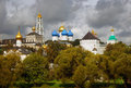 Panorama of Trinity Sergius Lavra Royalty Free Stock Photo