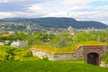 Panorama of trondheim panoramic view on city in summer Royalty Free Stock Image