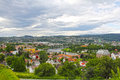 Panorama of trondheim panoramic view on city in summer Royalty Free Stock Images