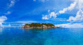 Panorama of tropical island Royalty Free Stock Photo