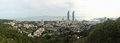 Panorama of twin towers xiamen university campus and nanputuo temple in xiamen city southeast china buddhist the will Stock Photography