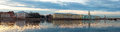 Panorama of the university embankment in st petersburg russia Stock Photography