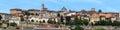 Panorama of upper city Citta Alta in Bergamo Royalty Free Stock Photo