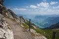 Panorama of the Upper Engadine from Muottas Muragl, Switzerland Royalty Free Stock Photo