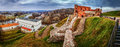 Panorama: Upper Vilnius Castle Complex Royalty Free Stock Photo
