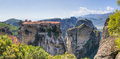 Panorama of Varlaam monastery, Meteora, Greece Stock Image
