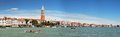 Panorama of venice and the campanile italy june grand canal Stock Images