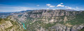 Panorama of the verdon canyon provence france Royalty Free Stock Photo