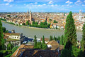 Panorama of Verona, Itali Royalty Free Stock Photos