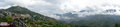 Panorama of vietnamese city mountain Royalty Free Stock Images