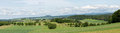 Panorama with a view on alendorf germany of the area of in the eifel Stock Photo