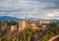 Panorama view of Alhambra palace, Granada, Spain Stock Photos