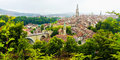 Panorama view of Berne old town from mountain top in rose garden, rosengarten, Berne Canton, Capital of Switzerland, Europe Royalty Free Stock Photo